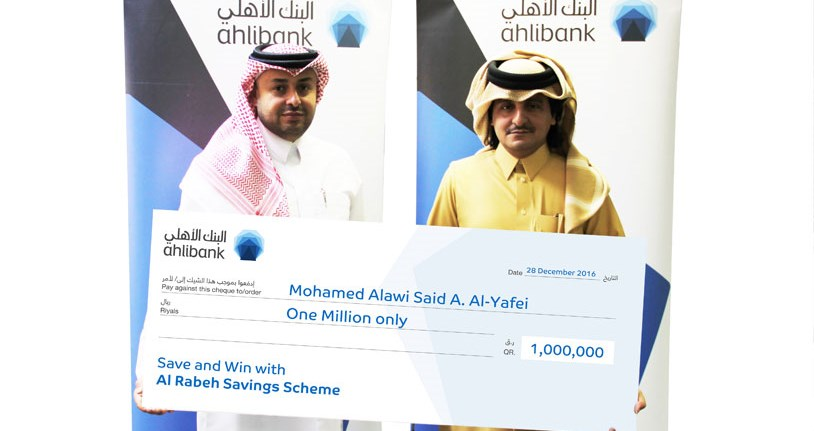 Ahlibank Announces Al Rabeh Savings Scheme final 2016 Millionaire Prize Draw Winner