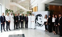"""Ahlibank installs """"Tamim Almajd"""" mural"""