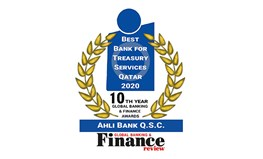 Ahlibank named Best Bank for Treasury Services Qatar 2020 by Global Banking & Finance Review