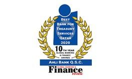 """البنك الأهلي يحصد جائزة """"أفضل بنك في إدارة الخزينة في قطر 2020"""" من """"جلوبال بانكنج أند فاينانس ريفيو"""""""
